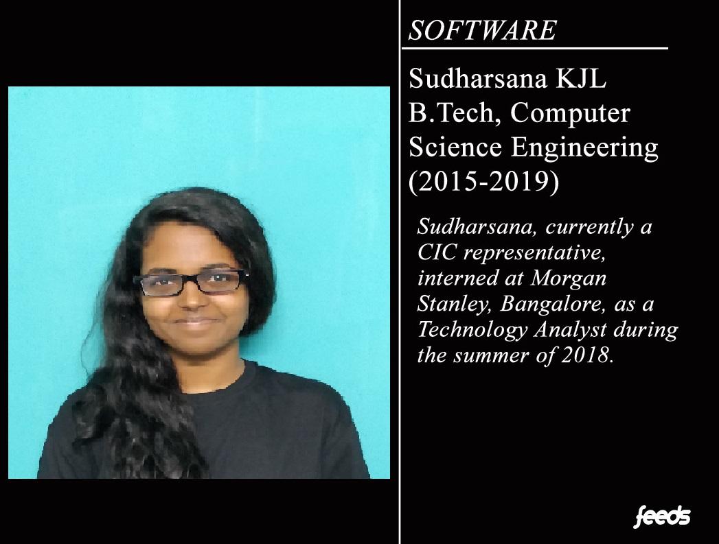 Sudharsana KJL: Internship at Morgan Stanley - Feeds NITT